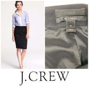 J. Crew Wool The No. 2 Pencil Skirt